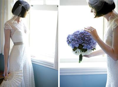 bride short bob hair wedding hairstyle veil