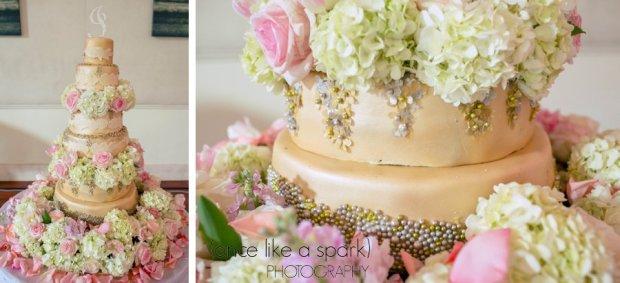 Native and Posh Weddings Cake