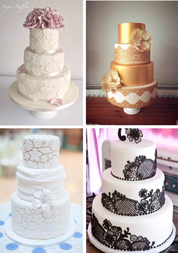 Lace Cakes Native and Posh Wedding Blog