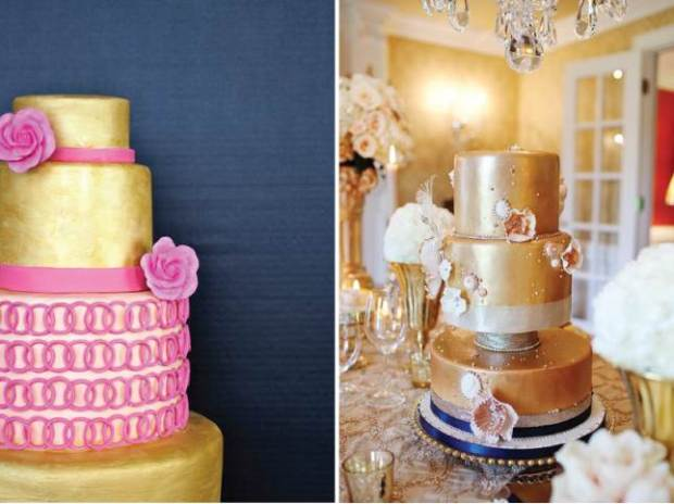 Native and Posh Weddings - metallic-wedding-cakes