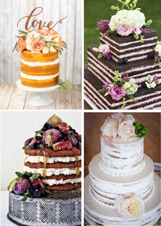 Naked Wedding Cake Native and Posh Wedding Blog