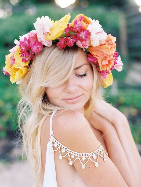 hawaiian haku, lei, Native and Posh Wedding BLog